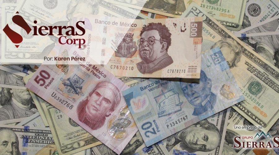 Caída del peso contra el dólar