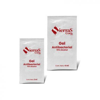 gel antibacterial en sobre